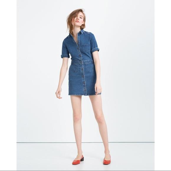 13809822 ✨NWOT Zara Denim Mini Dress with Five Pockets. M_5b3128506a0bb79fb0e1a0a9